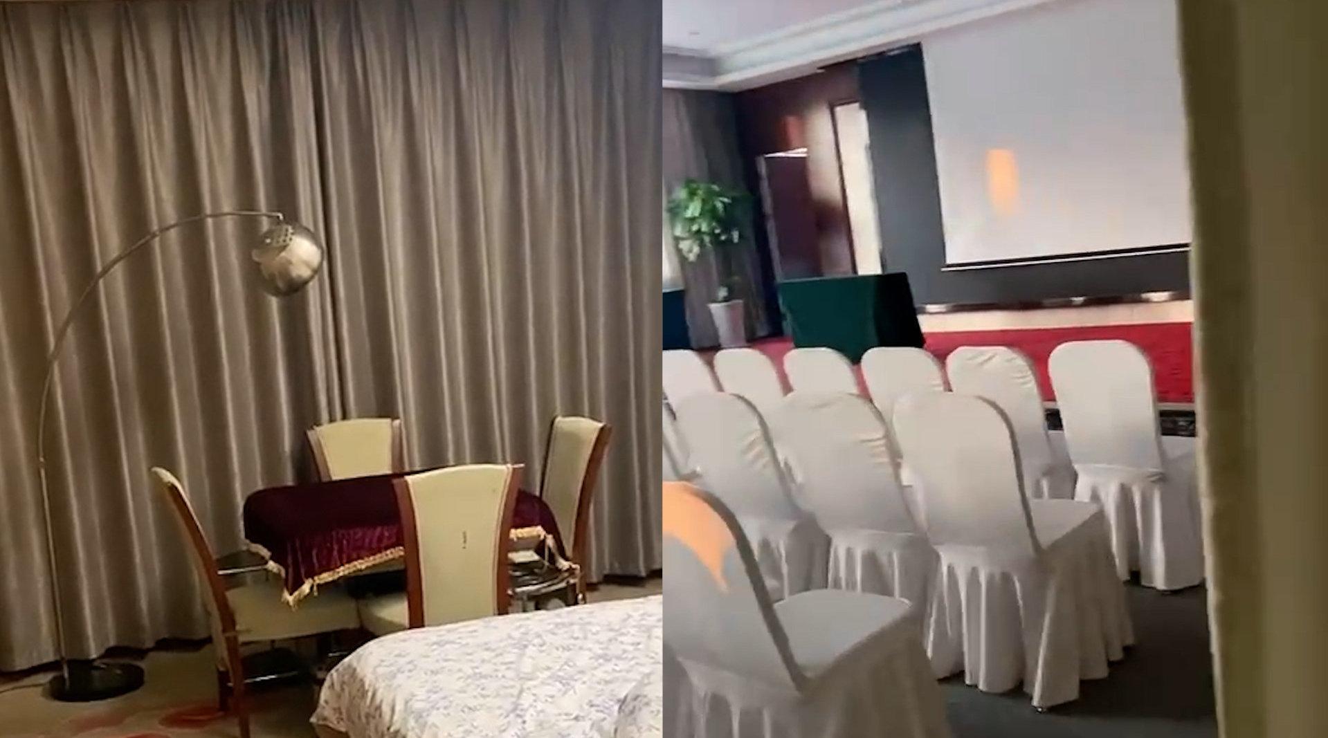 视频   女子住酒店拉开窗帘发现一间会议室:退房时才发现,整个人都呆了